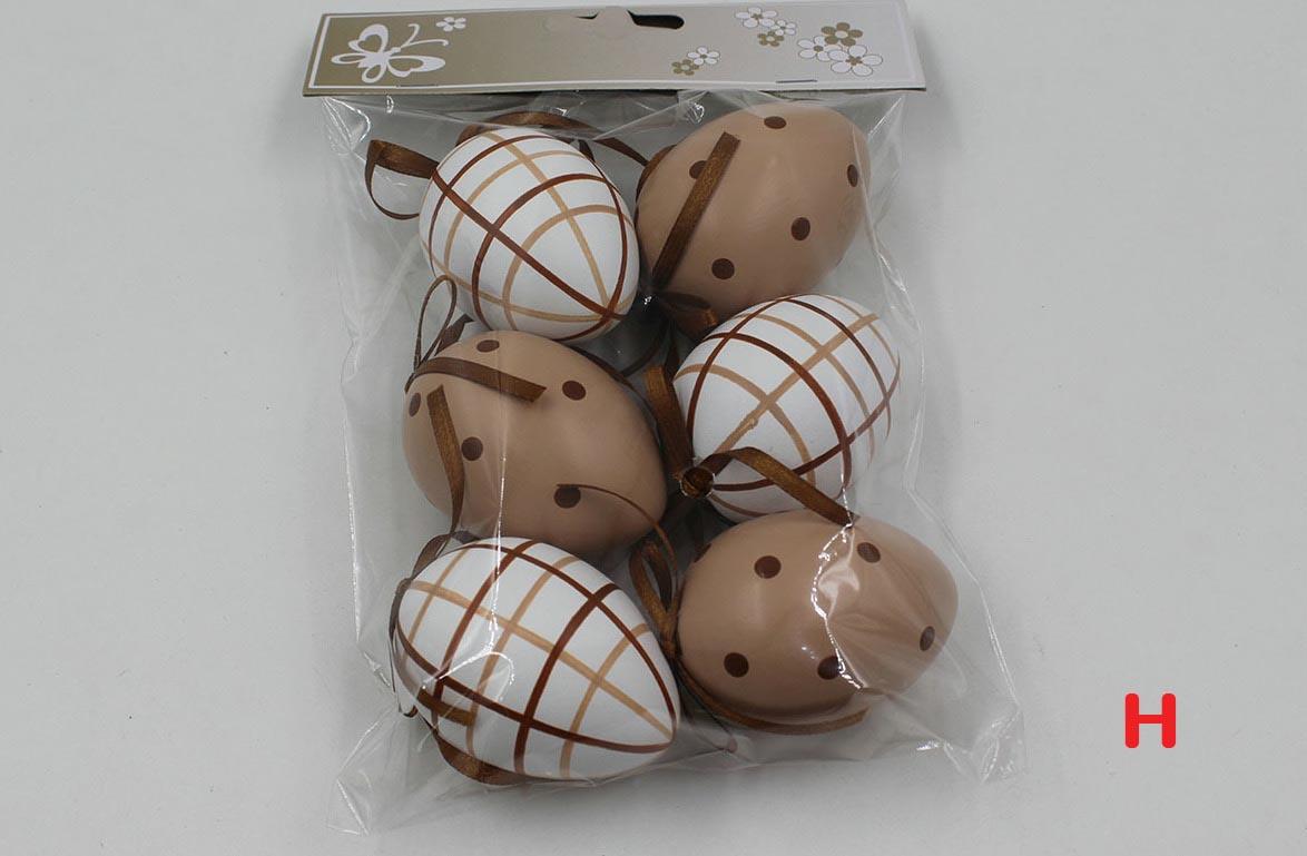 Artium Vajíčko plastové 6 cm | dekorační na zavěšení | sada 6 ks Provedení: H