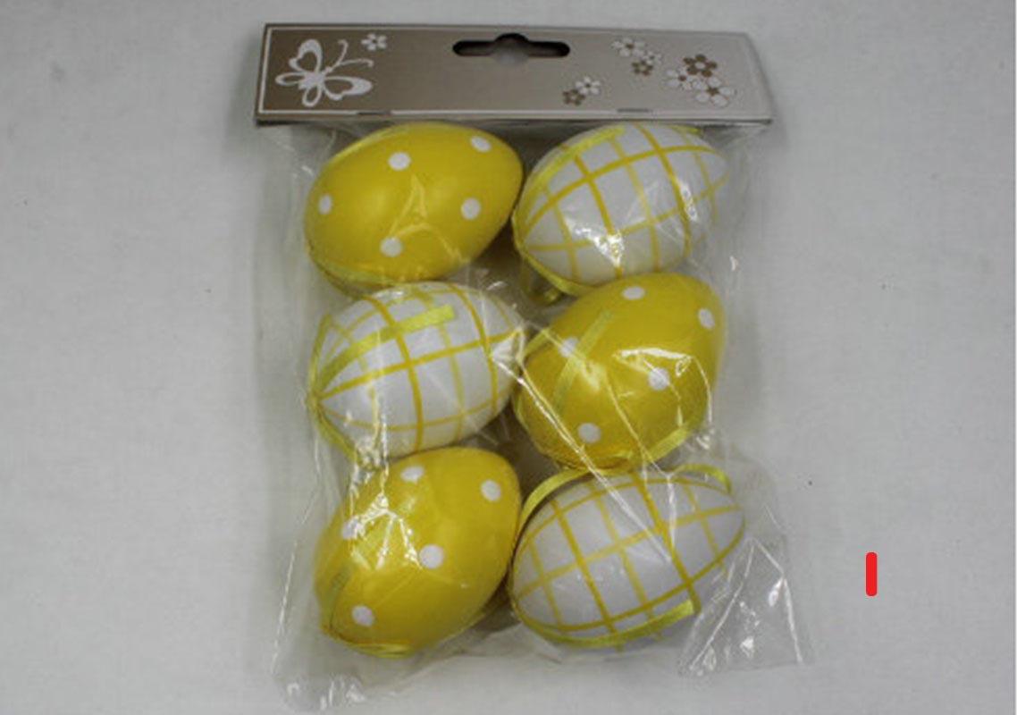 Artium Vajíčko plastové 6 cm | dekorační na zavěšení | sada 6 ks Provedení: I