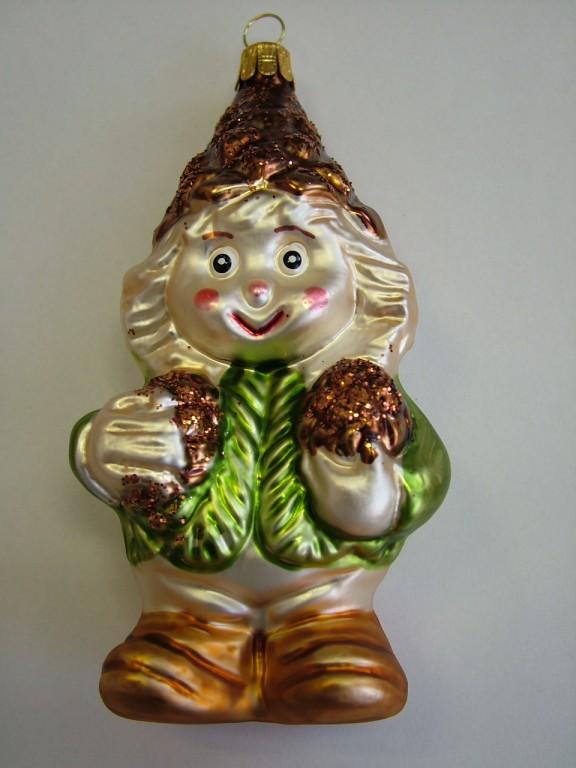Slezská tvorba Skleněná figurka | šiškový panáček Balení obsahuje: 1 kusů
