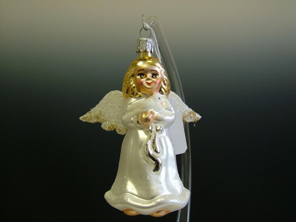 Slezská tvorba Skleněná figurka | anděl s holoubkem Balení obsahuje: 6 kusů
