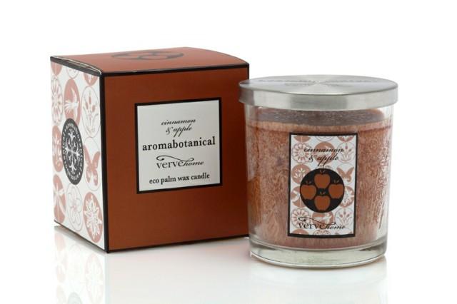 Vonná svíčka ve skle Aromabotanical | jablko a skořice