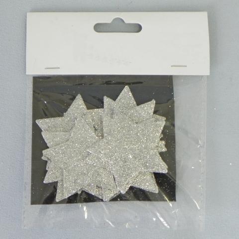 Hvězdička přízdoba stříbrná 12ks