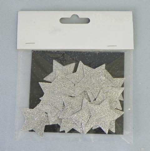 Hvězdička přízdoba stříbrná 24ks