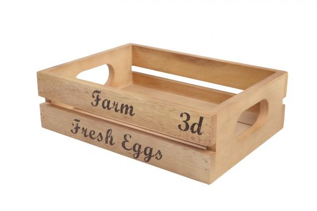 Přepravka na vajíčka | rustikální akát
