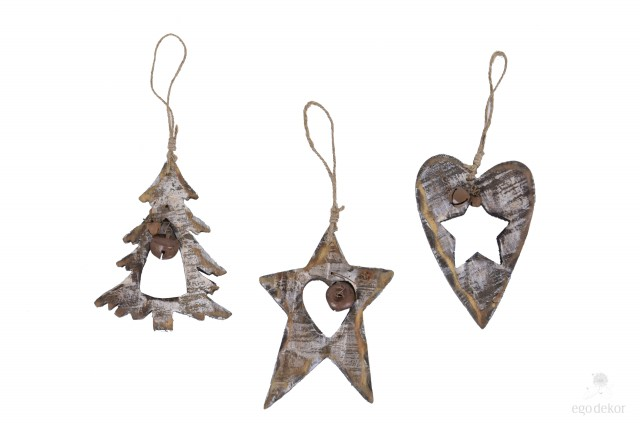 Vánoční dekorace|natural|s rolničkou S motivem: stromek