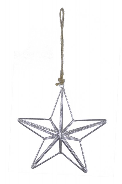 Drátěná hvězda|stříbrná