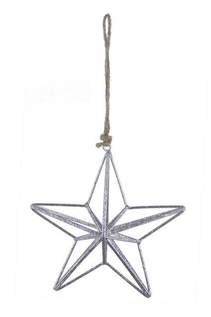 Ego Dekor Drátěná hvězda|stříbrná
