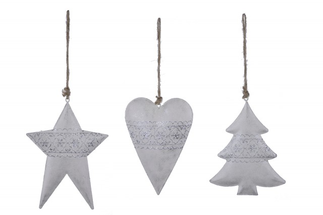 Vánoční ozdoba|kovová S motivem: hvězda
