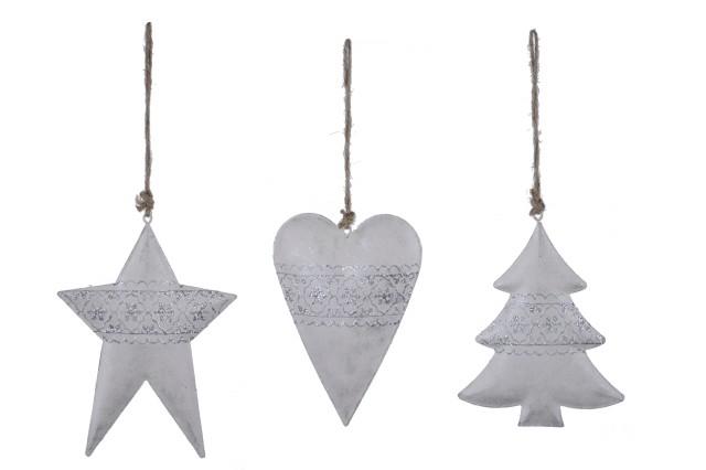 Vánoční ozdoba|kovová|barva champagne S motivem: stromek