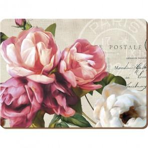 Creative Tops Korkové prostírání Postcard Floral Rozměry: 21x29cm - 4ks