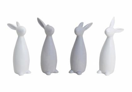 Porcelánový zajíc 20cm Barva: bílá, Provedení: Levé