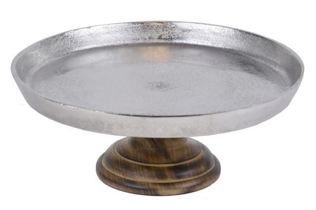 Stříbrný podnos na dort   velký