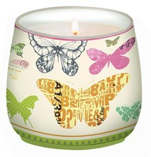 Colourful life Svíčka | ve skle | barevní motýli