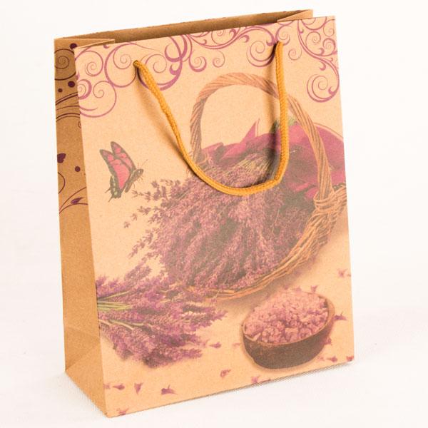 Papírová taška   košík Levandule   19x25x8cm