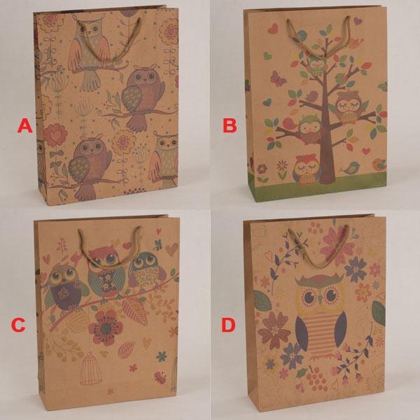 Papírová taška   Sovičky   31x42x10cm Provedení: A