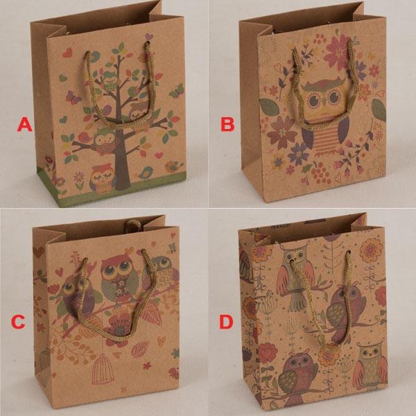 Malá papírová taška   Sovičky   11x14x5cm Provedení: A