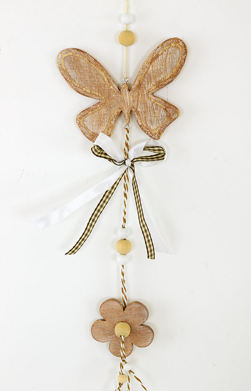 Motýl | dřevěná dekorace na zavěšení