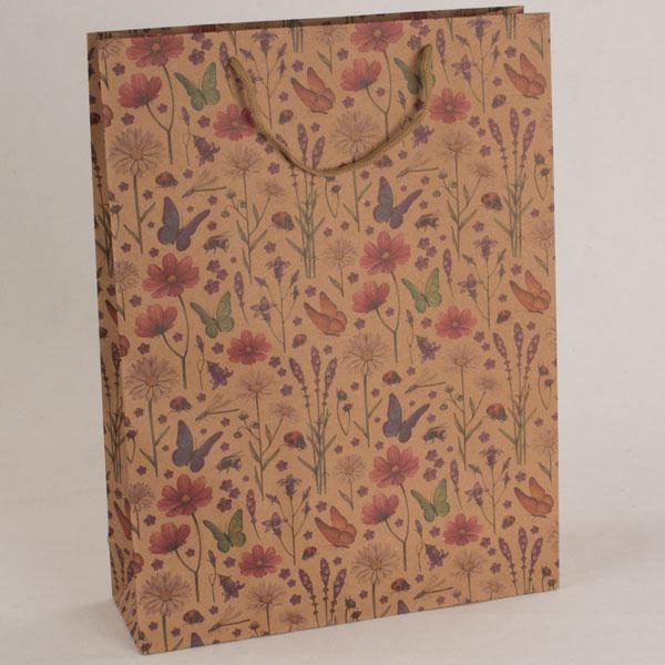 Dárková papírová taška   jarní louka   31x42x10cm