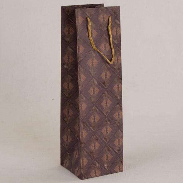 Papírová taška na víno   11x36x11cm