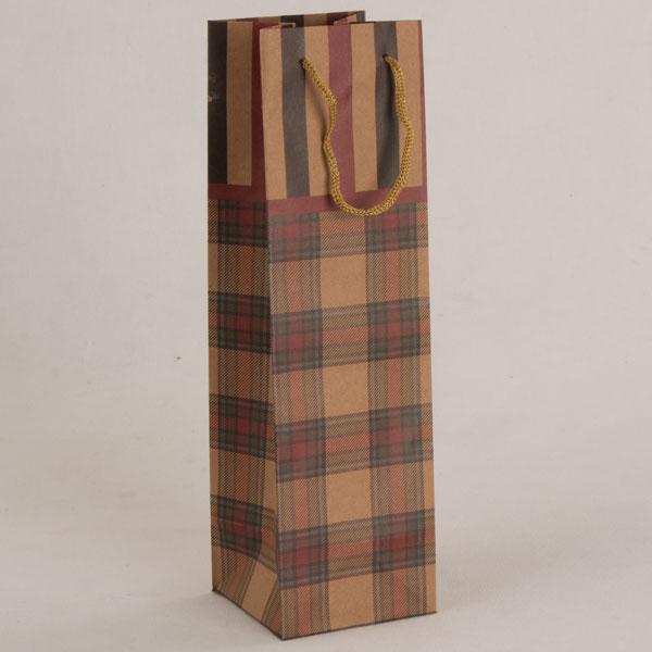Papírová taška na víno   kostka