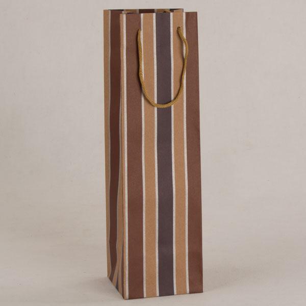 Papírová taška na víno   svislé pruhy