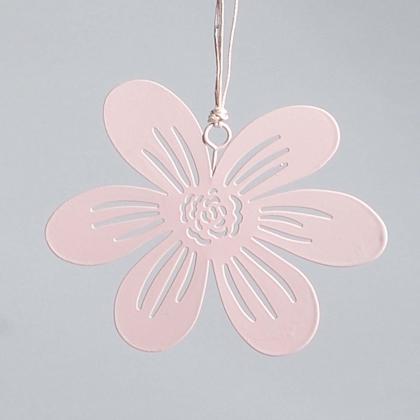 Růžová květina na zavěšení 13,5x11,5cm