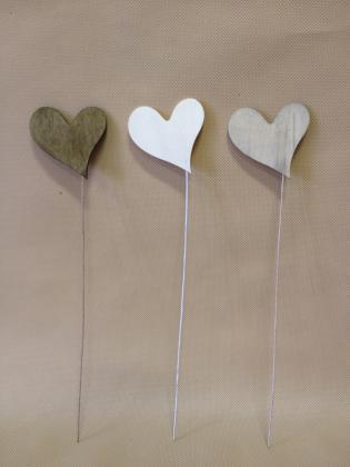 Srdce zápich 6,5cm Barva: růžová