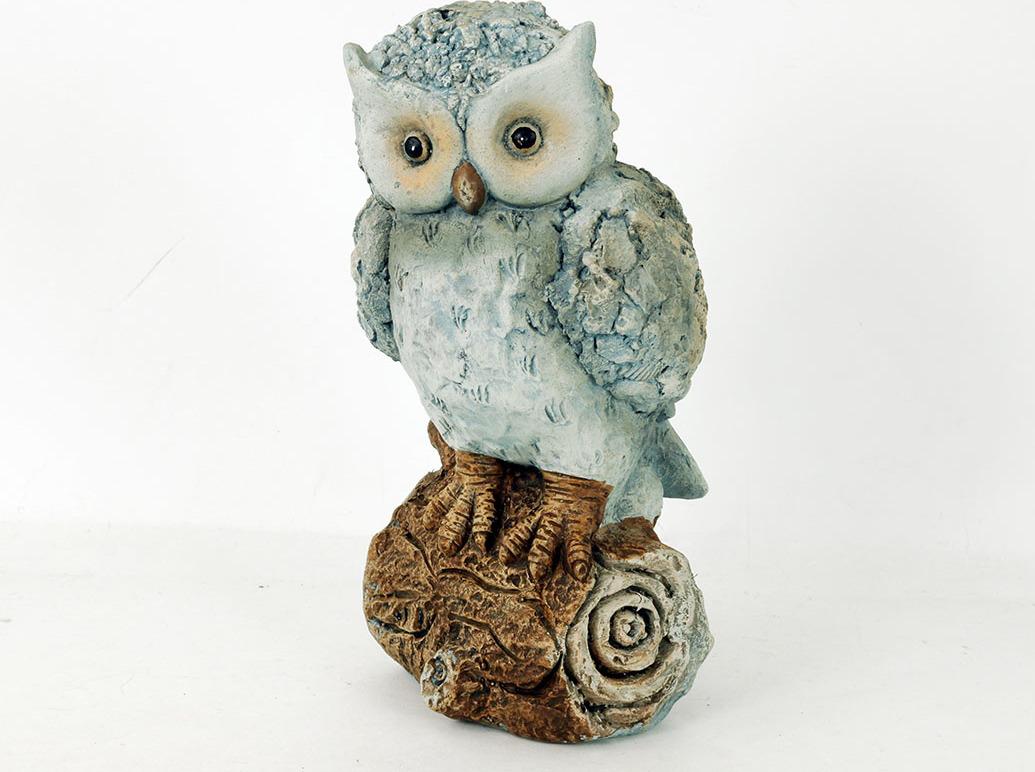 Sova na špalku | MgO keramika | zahradní dekorace