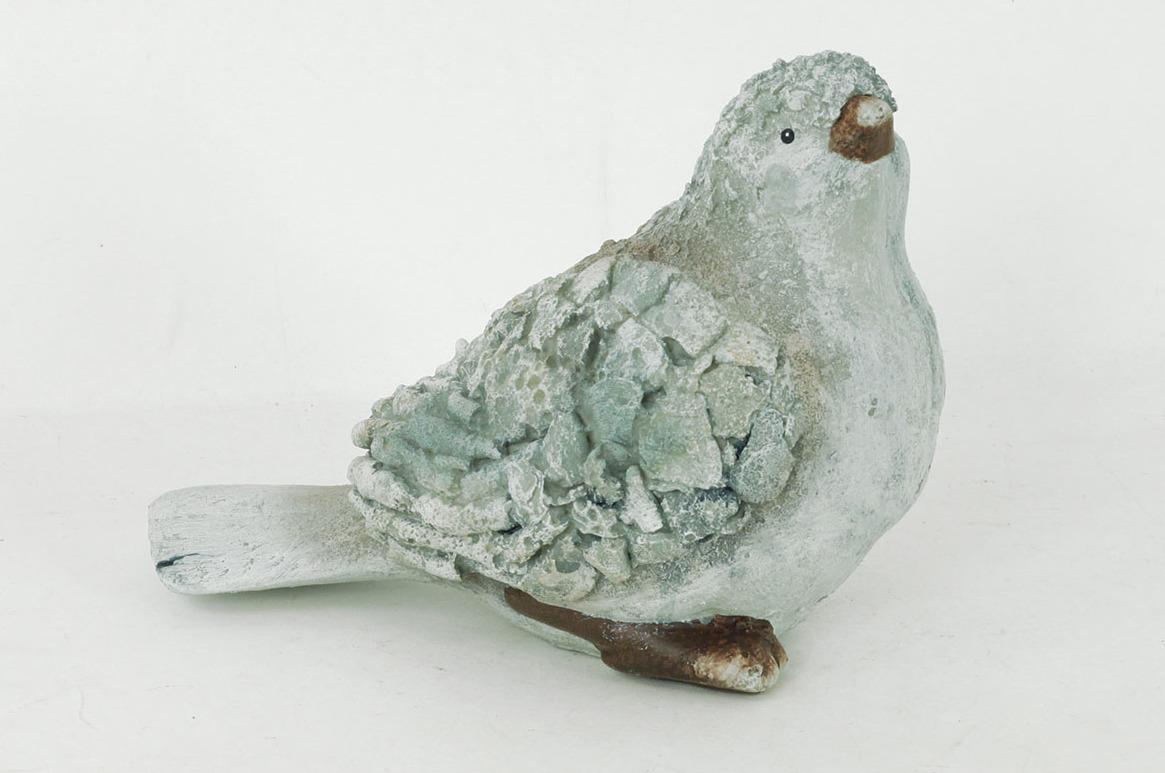 Ptáček | MgO keramika | zahradní dekorace | 23x14x18cm