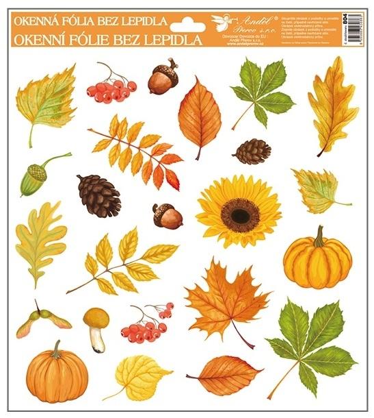 Okenní fólie | podzim | 30x30cm Provedení: A