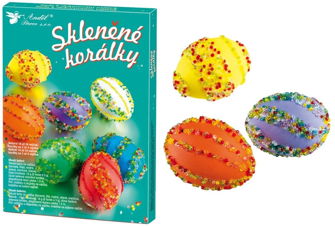 Sada k dekorování vajíček | skleněné korálky