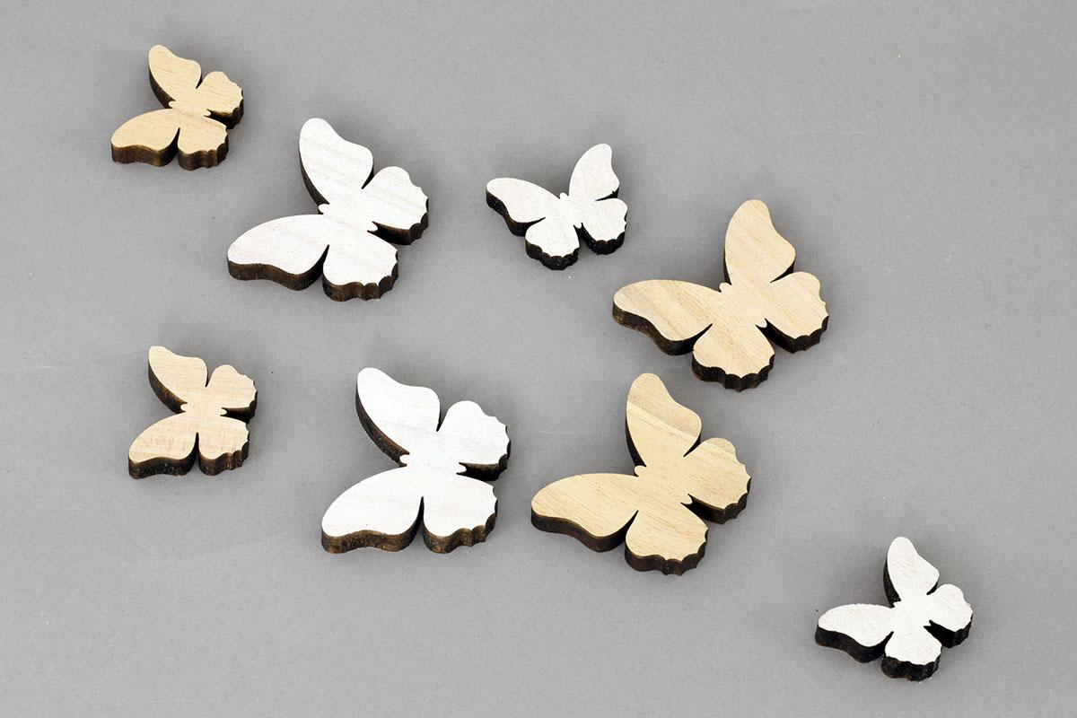 Motýlek | dřevěná dekorace | sada 8ks