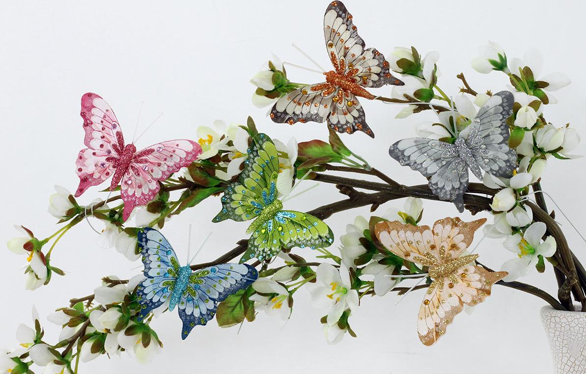 Artium Motýl s klipem | sada 12ks