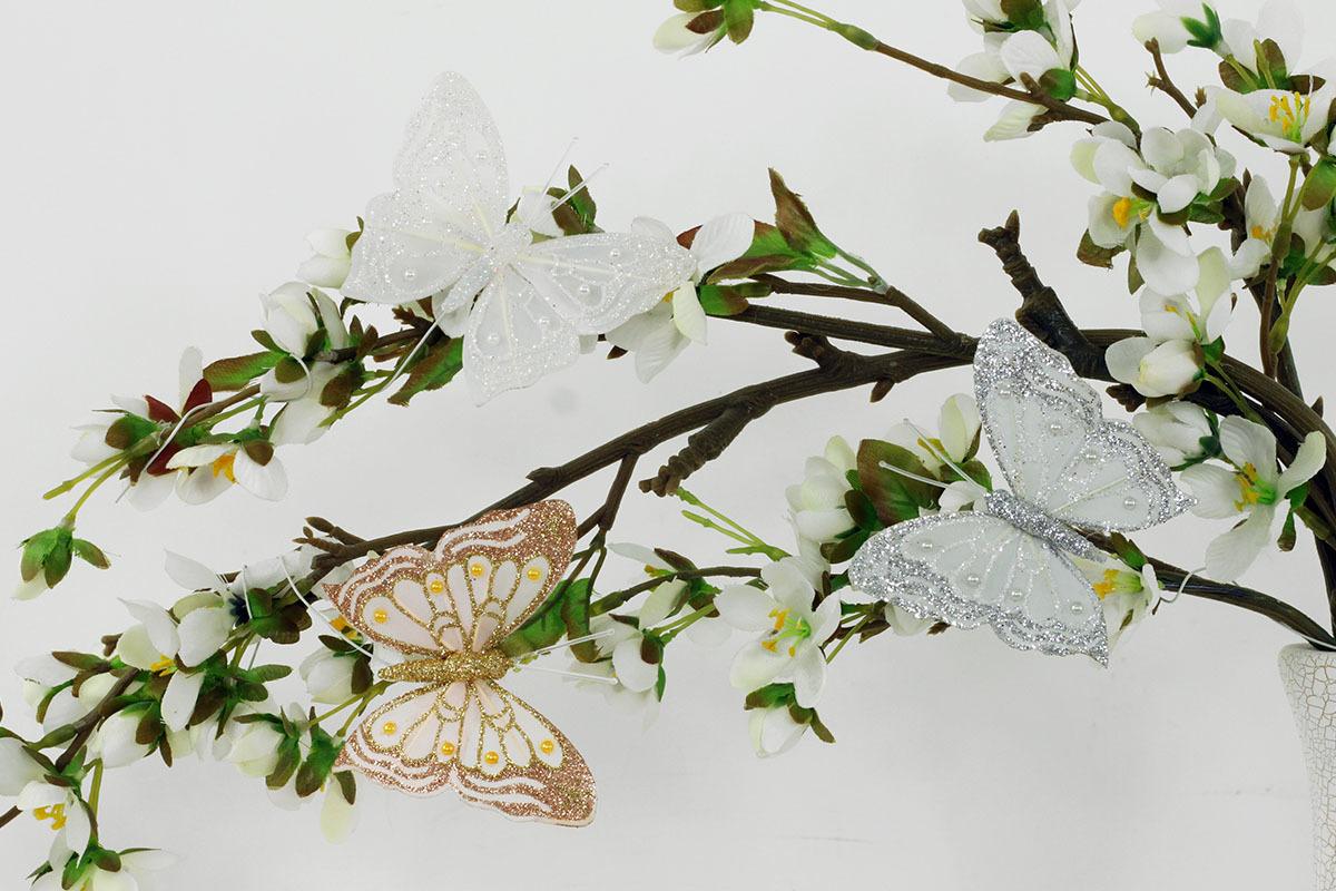 Artium Motýl s klipem | sada 12ks | 8cm