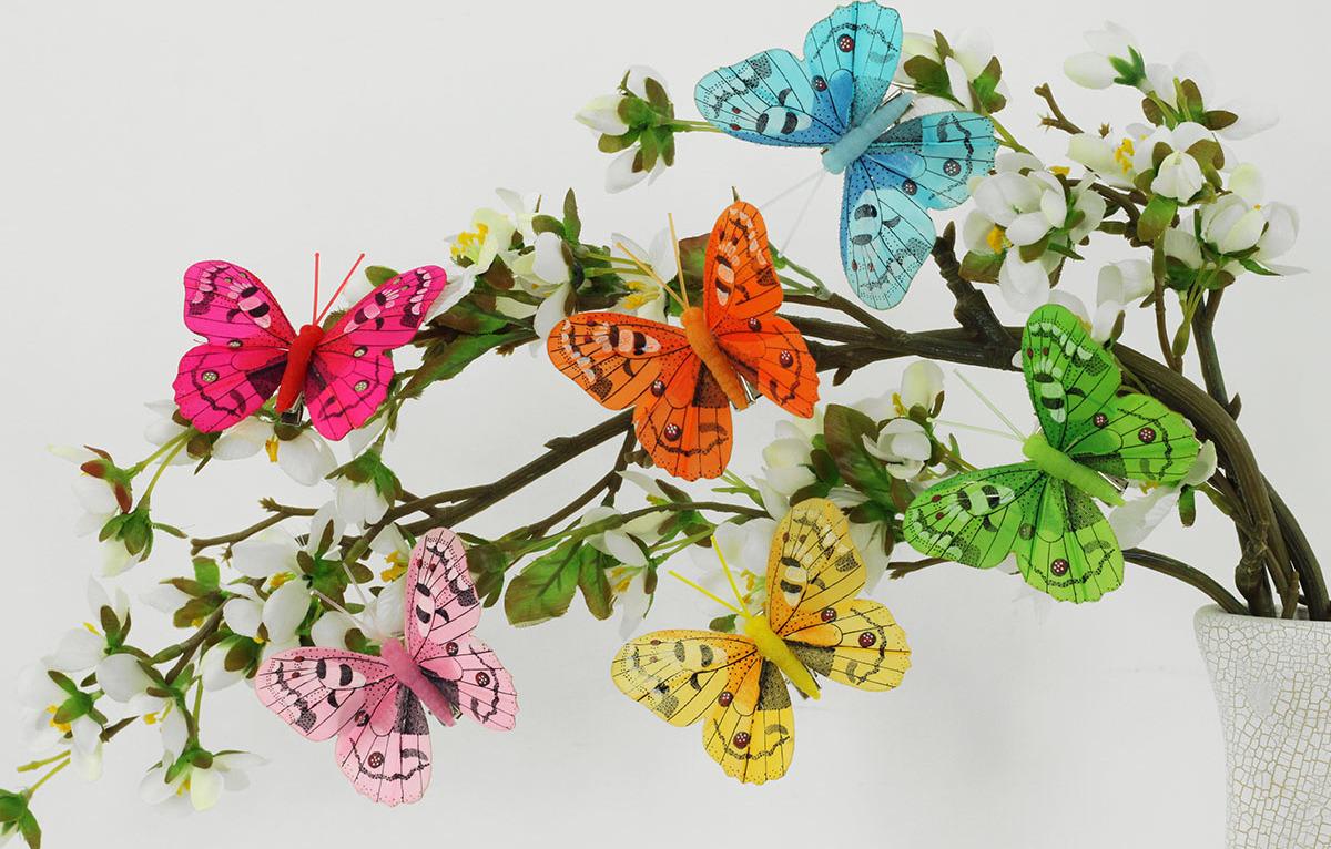Artium Barevný motýl s klipem | sada 12ks