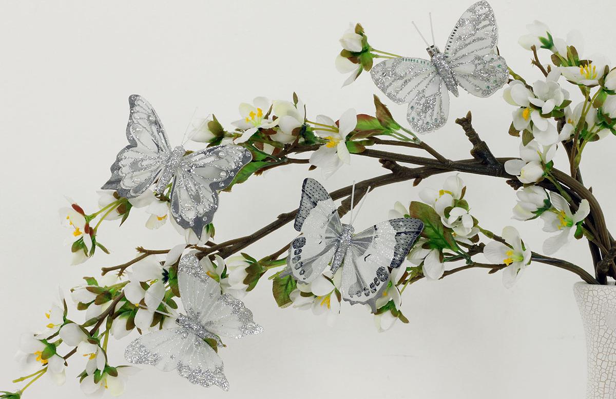 Artium Motýl s klipem | sada 8ks | stříbrný