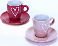 Hrnek   Dva druhy   Srdce Barva: růžová