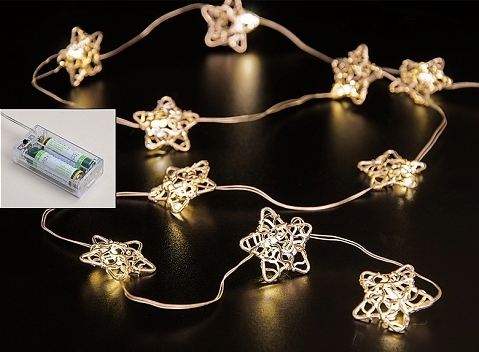KI LED hvězdy | 10ks | 90cm | na baterie