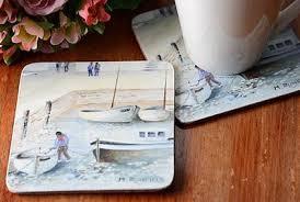 Creative Tops Korkové prostírání Cornish Harbour Rozměry: 29x40cm - 4ks
