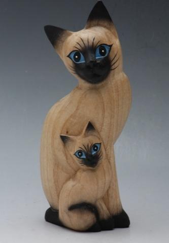 HR Figurka | Kočky | 2 Druhy | Dřevo Velikost: velká
