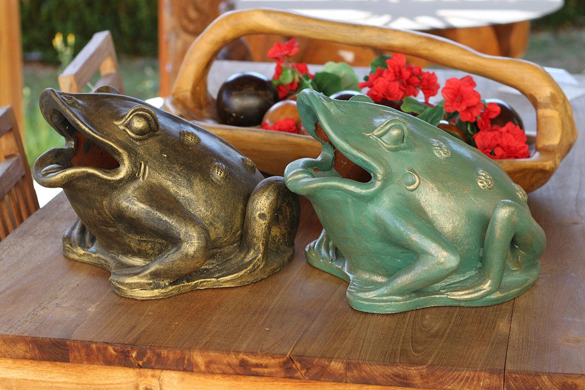 Artium Keramická žába Barva: hnědá