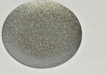 Harasim Skleněný tác 20 cm, stříbrný s perletí Velikost: střední