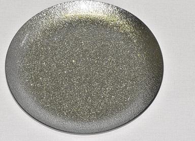 Harasim Skleněný tác 25 cm, stříbrný s perletí Velikost: velký