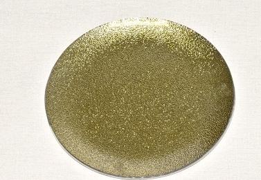 Harasim Skleněný tác 20 cm, zlatý s perletí Velikost: střední