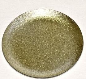 Harasim Skleněný tác 25 cm, zlatý s perletí Velikost: velký