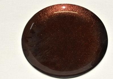 Harasim Skleněný tác 25 cm, hnědý s perletí Velikost: velký