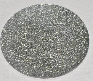 Harasim Skleněný tác 25 cm, stříbrný mražený Velikost: velký