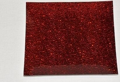 Harasim Skleněný tác 24,5 x 24,5 cm, červený mražený Velikost: velký