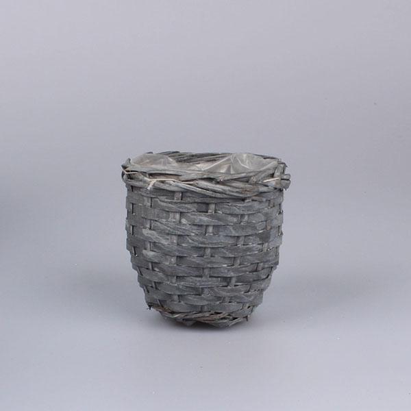 Casa de Engel Květináč proutěný s igelitem Barva: šedá, Provedení: Menší