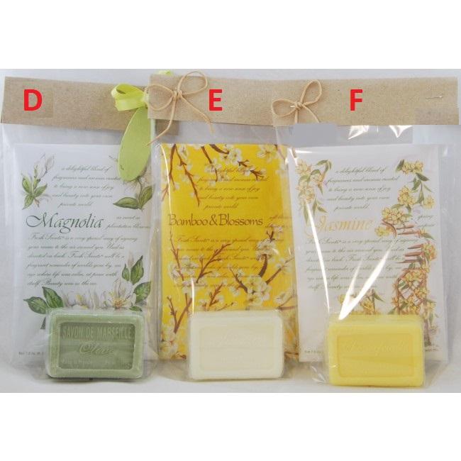Vonný sáček a mýdlo   Willowbrook   dárkový balíček   18x12cm eseNce: Magnolia